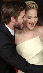 Festival di Roma 2013, Fasulo ultimo italiano in concorso - Liam Hemsworth, Jennifer Lawrence e Josh Hutcherson sul red carpet.