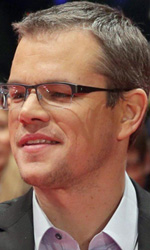 Berlinale 2013, in concorso Shia LaBeouf contende la donna a un boss - Matt Damon e Gus Van Sant sul red carpet del film <em>Promised Land</em>.