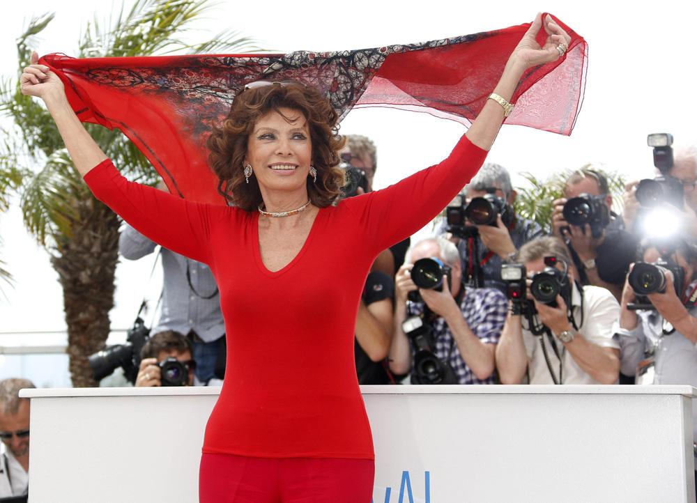 Cannes 67, il veterano e l'enfant prodige - Sophia Loren sulla croisette.