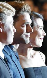 Cannes 67, Assayas e Zvyagintsev chiudono il concorso - Antoine Olivier Pilon, Suzanne Clement e Xavier Dolan sulla croisette.