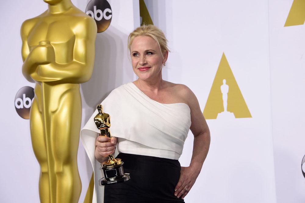 Patricia Arquette, vincitrice dell'Oscar come Miglior Attrice Non Protagonista per <em>Boyhood</em>.