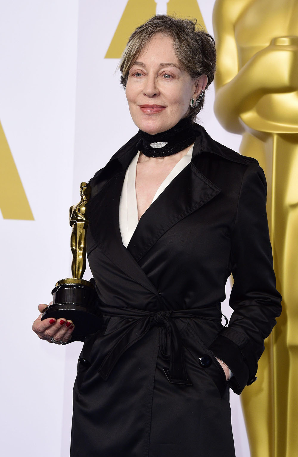 Milena Canonero, vincitrice del Premio Oscar per i Migliori Costumi per <em>Grand Budapest Hotel</em>.