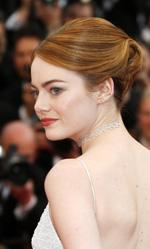 Festival di Cannes 2015, in concorso Moretti e Gus Van Sant - Emma Stone, elegantissima in total white, protagonista del film di Woody Allen.