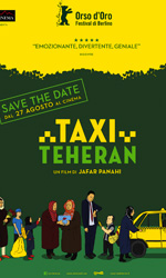 Taxi Teheran, la locandina italiana - In foto Jafar Panahi, regista di Taxi Teheran.