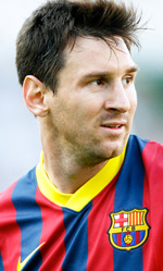 Messi, calcio e cinema - In foto il campione Lionel Messi.