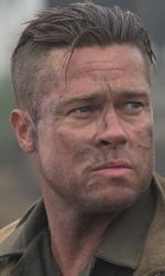 Fury, la guerra di Pitt: qualcosa di personale - In foto Brad Pitt in una scena del film <em>Fury</em> di David Ayer.