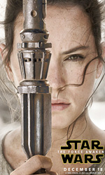 Star Wars: Il risveglio della forza, i character poster - Daisy Ridley (Rey).