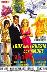 Locandina A 007, dalla Russia con amore