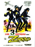 Locandina Le tre spade di Zorro
