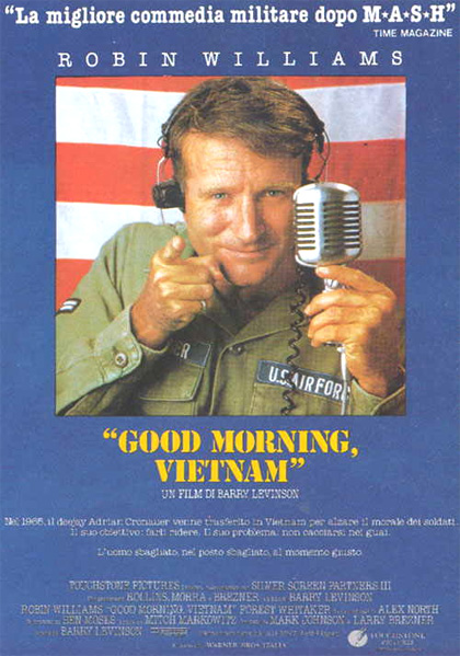 Locandina italiana good morning vietnam