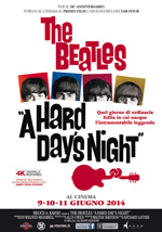 Locandina The Beatles - A Hard Day's Night