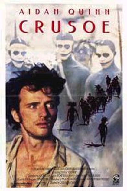 1990 Press Photo Actor Aidan Quinn stars in Crusoe ...