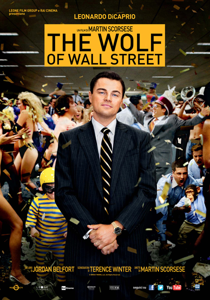 Locandina italiana The Wolf of Wall Street