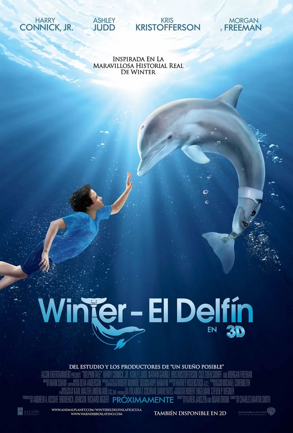 Poster L'incredibile storia di Winter il delfino in 3D