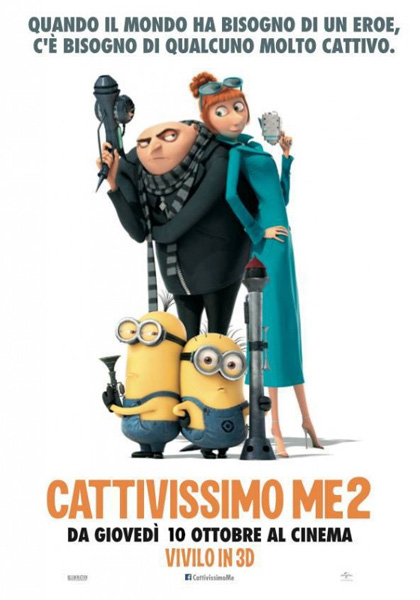 Guarda gratis Cattivissimo Me 2 in streaming italiano HD