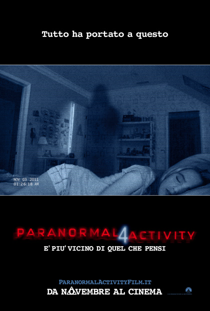Locandina Paranormal Activity 4