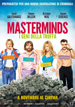 Trailer Masterminds - I geni della truffa