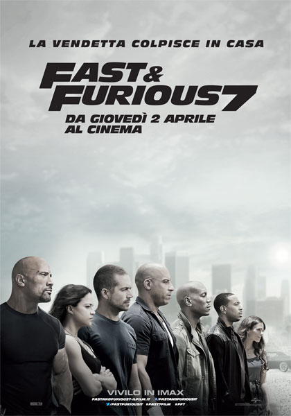 Locandina Fast and Furious 7