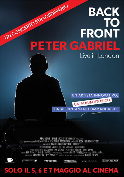Back To Front: Peter Gabriel Live in London in streaming & download