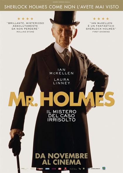 Locandina italiana Mr. Holmes - Il mistero del caso irrisolto