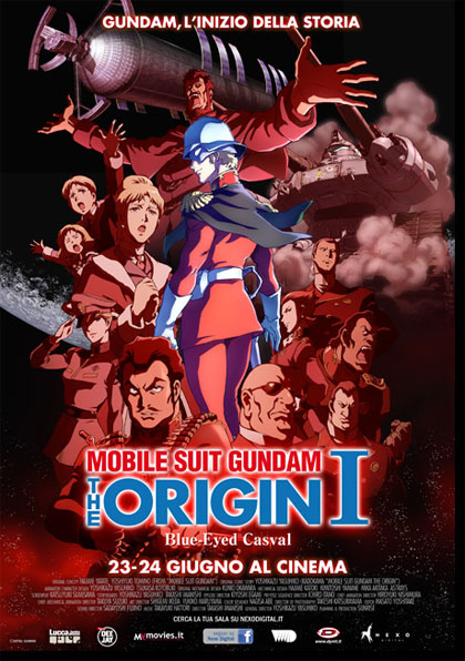Locandina italiana Mobile Suit Gundam - The Origin I