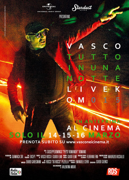 Vasco tutto in una notte - Livekom015 al cinema