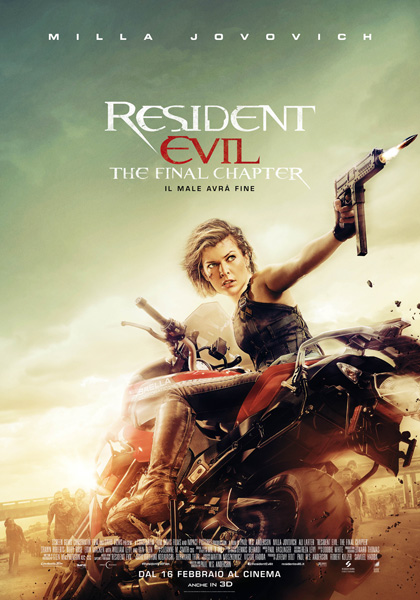 Locandina italiana Resident Evil: The Final Chapter