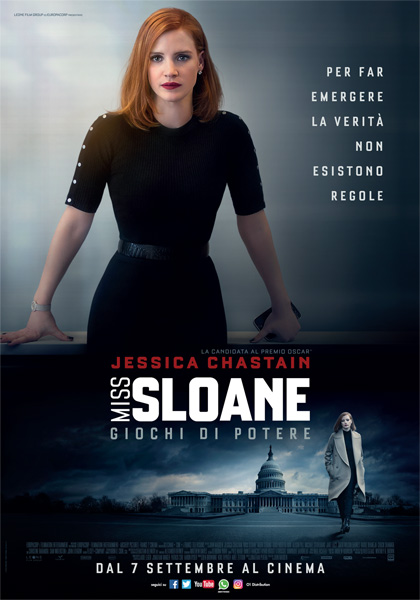 Locandina italiana Miss Sloane - Giochi di potere