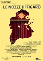 Locandina Teatro alla Scala di Milano: Le nozze di Figaro