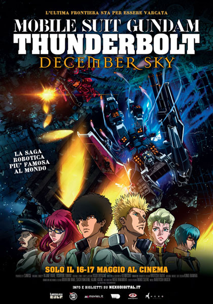 Locandina italiana Mobile Suit Gundam: Thunderbolt - December Sky