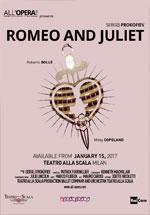 Locandina Teatro alla Scala di Milano: Romeo e Giulietta