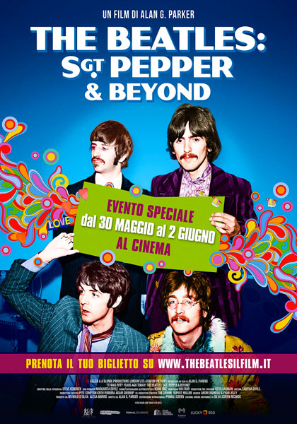 Locandina italiana The Beatles: Sgt Pepper & Beyond