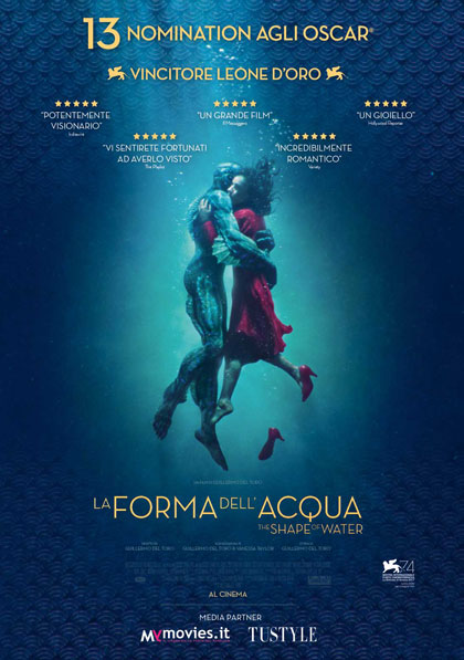 Locandina italiana La forma dell'acqua - The Shape of Water
