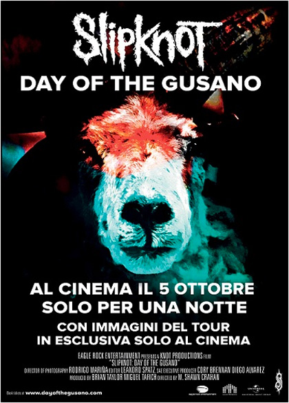 Locandina Slipknot - Day of the Gusano