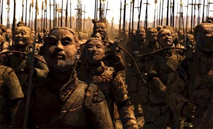 Realizzando le legioni dei Guerrieri -  Dall'articolo: La Mummia - La Tomba dell'Imperatore Dragone, il film.