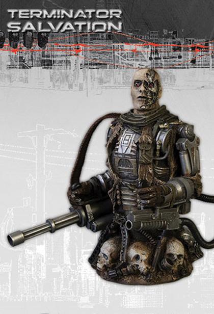 Il busto del T-600 -  Dall'articolo: Terminator Salvation: le immagini dei busti prodotti dalla DC Direct.