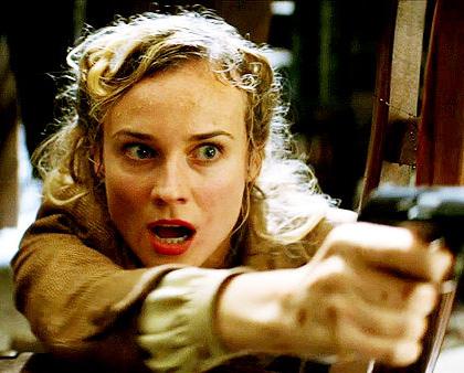 In foto Diane Kruger (42 anni) Dall'articolo: Bastardi senza gloria: Harvey Weistein chiede di tagliare 40 minuti.