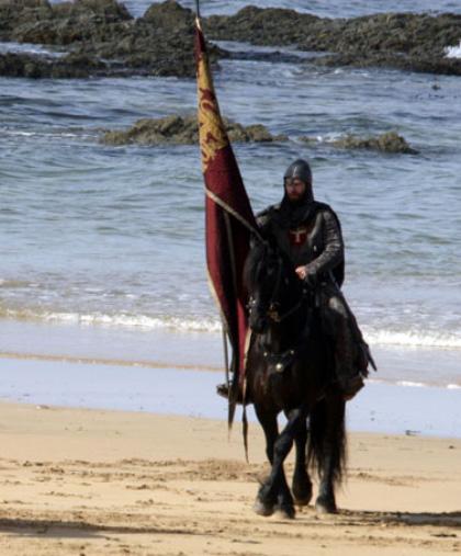 Una scena del film -  Dall'articolo: Robin Hood: le foto di Russell Crowe in Wales.