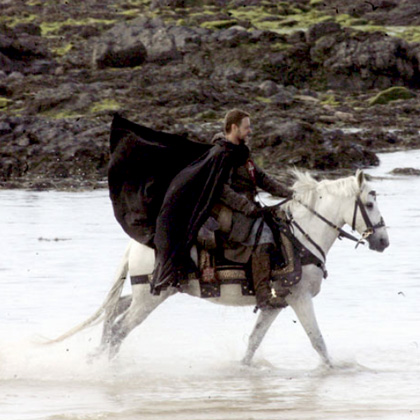 In foto Russell Crowe (56 anni) Dall'articolo: Robin Hood: le foto di Russell Crowe in Wales.