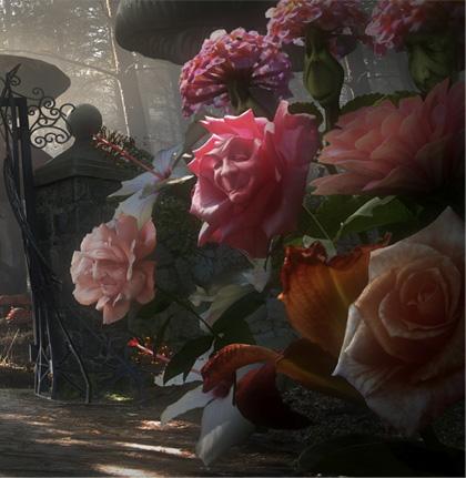 I fiori -  Dall'articolo: Alice in Wonderland: il logo del film.