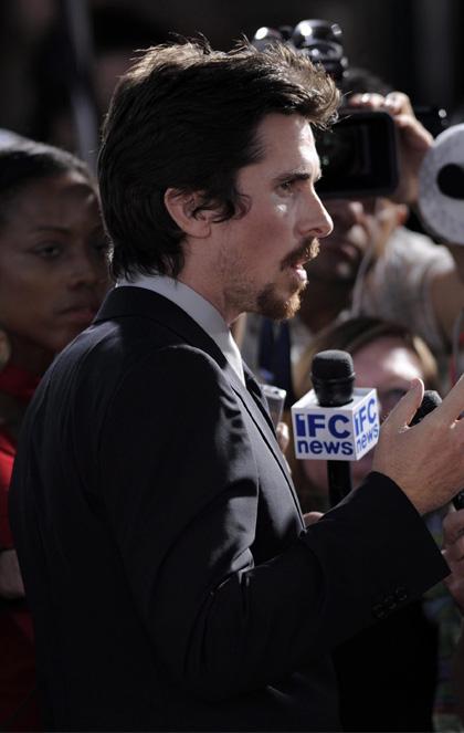 In foto Christian Bale (45 anni) Dall'articolo: Nemico Pubblico: le foto della premiere.