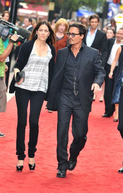 In foto Johnny Depp (58 anni) Dall'articolo: Nemico Pubblico, premiere a Londra.