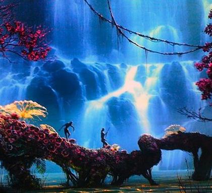 Un'immagine di Pandora -  Dall'articolo: Avatar: il banner realizzato in occasione del Comic-Con.