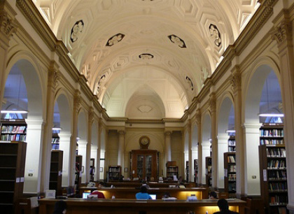 Interno dell'edificio Wilkins -  Dall'articolo: Inception: le riprese all'University College di Londra.