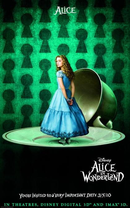 In foto Mia Wasikowska (30 anni) Dall'articolo: Alice in Wonderland: primi poster.