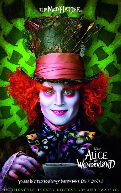 In foto Johnny Depp (56 anni) Dall'articolo: Alice in Wonderland: primi poster.