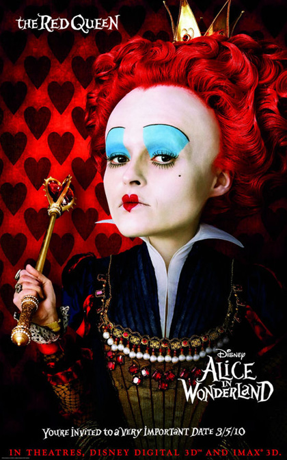 In foto Helena Bonham Carter (55 anni) Dall'articolo: Alice in Wonderland: primi poster.