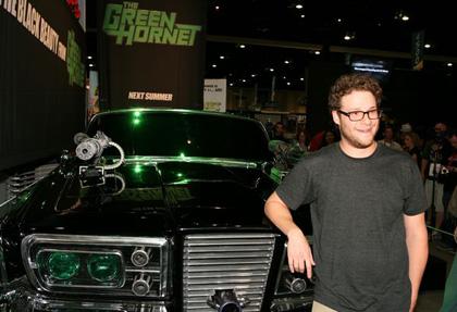 In foto Seth Rogen (38 anni) Dall'articolo: The Green Hornet: rivelata Black Beauty.