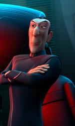 Il generale Stone col suo robot -  Dall'articolo: Astro Boy: il poster finale.