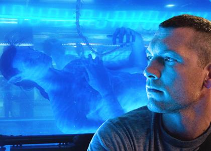In foto Sam Worthington (44 anni) Dall'articolo: Avatar: le prime immagini in 3D al multiplex Parco de Medici.